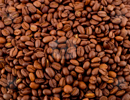 Coffee beans  stock photo, Roasted coffee beans creating coffee background by Vladyslav Danilin
