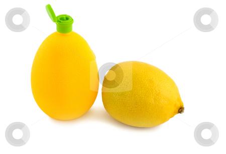 Citric acid and lemon stock photo, Citric acid and lemon isolated on white background by Vladyslav Danilin