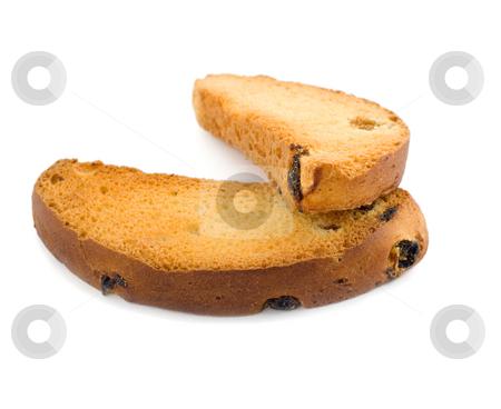 Zwieback bread stock photo, Zwieback bread isolated on white background by Vladyslav Danilin