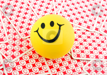 Smile in smiling cards stock photo, Smile in smiling cards close-up  background by Vladyslav Danilin