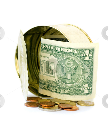 Money in bank concepts stock photo, Money in bank concepts isolated on white background by Vladyslav Danilin