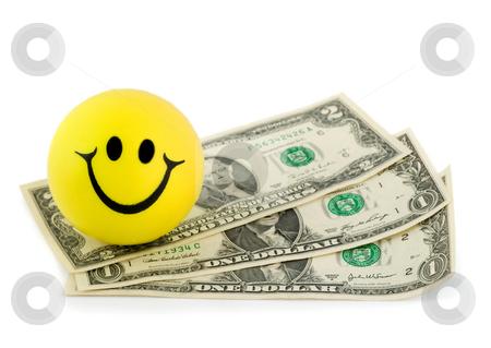 Smile money dollar stock photo, Smile money dollar close-up isolated on white background by Vladyslav Danilin