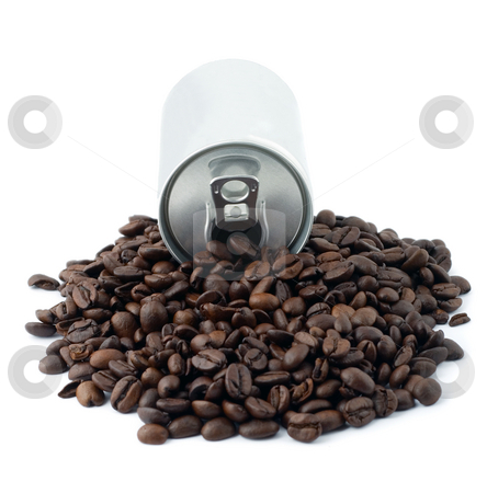 Coffee beans stock photo, Coffee beans isolated on white by Vladyslav Danilin