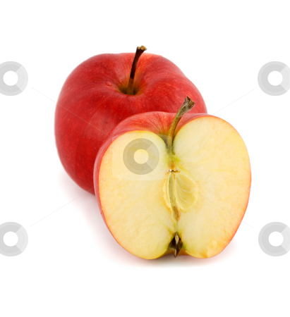 Red apples stock photo, Red apples ,isolated on white background. by Vladyslav Danilin