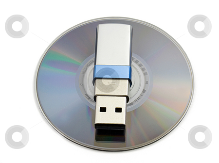 Usb flash memory stock photo, Usb flash memory on MD, close-up, isolated on white backround by Vladyslav Danilin