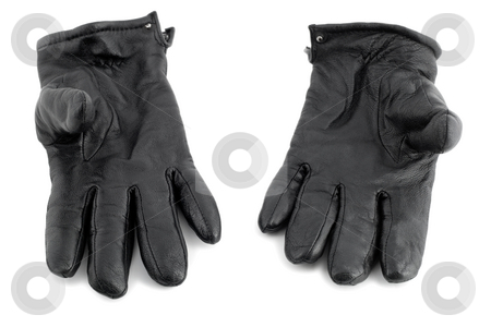 Gloves leather  stock photo, Gloves leather , isolated on white background by Vladyslav Danilin