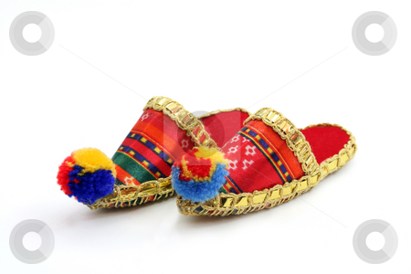 Slippers stock photo, Slippers, isolated on white background by Vladyslav Danilin