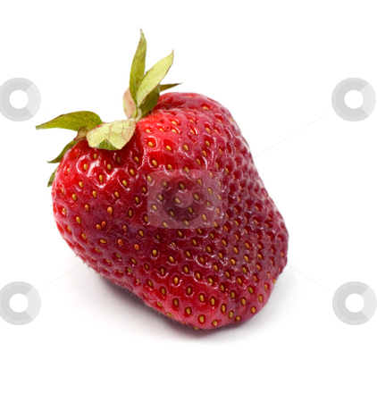 Strawberries stock photo, Strawberries close-up isolated on white background by Vladyslav Danilin