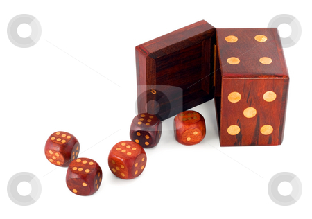 Dices in dice stock photo, Dices in dice isolated on white background by Vladyslav Danilin