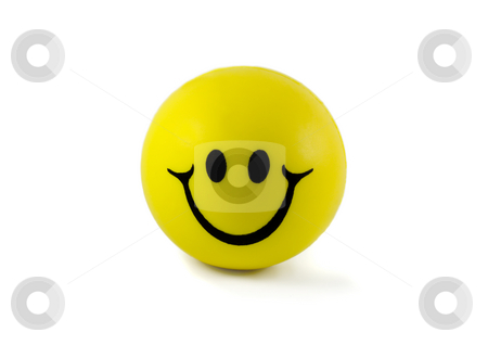 Yellow ball smiles stock photo, Yellow ball with smile ,isolated in white background by Vladyslav Danilin