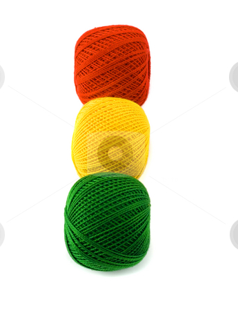Embroidery threads stock photo, Embroidery threads close-up isolated on white background by Vladyslav Danilin