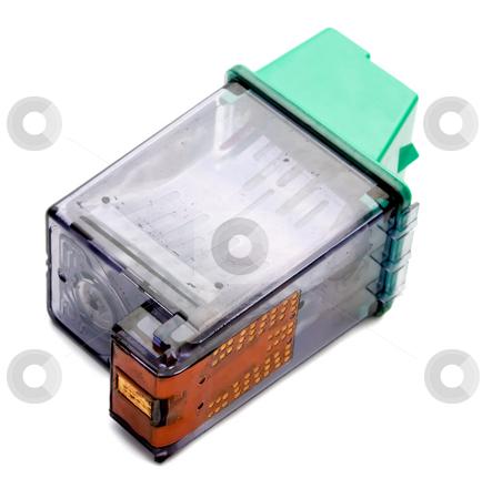 Printer cartridge stock photo, Printer cartridge ,used ink cartridge for inkjet printers by Vladyslav Danilin