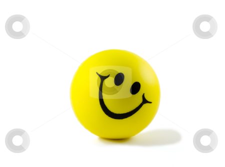 Smiley face stock photo, Yellow ball with smile ,isolated in white background by Vladyslav Danilin