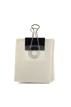 Note paper stock photo, Note paper in Clip,isolated on a white background by Vladyslav Danilin