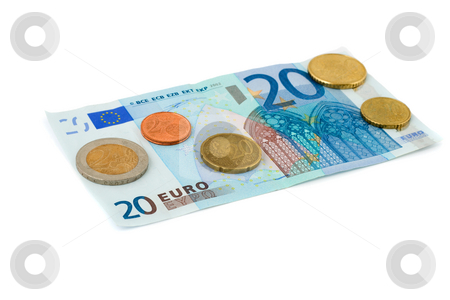Euro money stock photo, Euro money isolated on white background by Vladyslav Danilin
