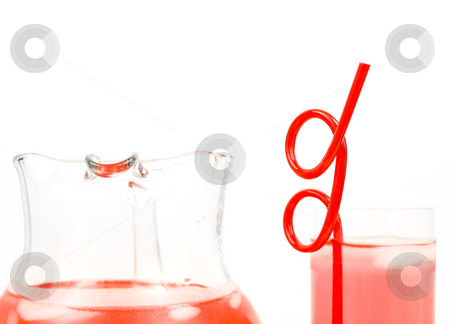 Close up of Drink and Pitcher stock photo, Close up of Drink and Pitcher on white Background by John Teeter
