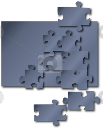 Puzzle stock vector clipart, Puzzle pieces jigsaw background by William Park