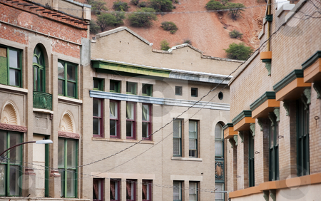 Builkdings in Bisbee Arizona stock photo, 1800s buildings in Bisbee Arizona mining town by Scott Griessel