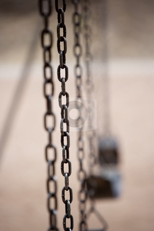 Chain on Playground Swing stock photo, Chain on an old style playground swing by Scott Griessel