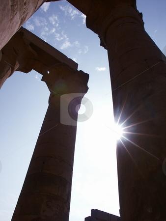Karnak  stock photo, S???len von Karnak im Gegenlicht / Halls of Karnak Karnak in Backlight by Thomas K?