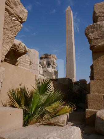 Obelisk in the temple complex of Karnak stock photo, Obelisk in Tempelanlage von Karnak / Obelisk in the temple complex of Karnak by Thomas K?