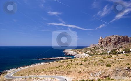 Sicily San Vito Lo Capo stock photo, A view of the Golfo di Makari with Mediterranean Sea; San Vito Lo Capo, Sicily, Italy by Roberto Marinello
