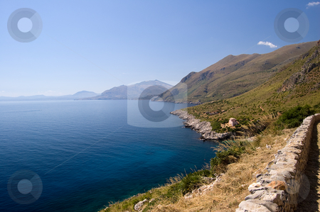 Mediterranean sea Riserva dello Zingaro stock photo, Riserva dello Zingaro, Mediterranean Sea, wonderful Sicily, Italy by Roberto Marinello