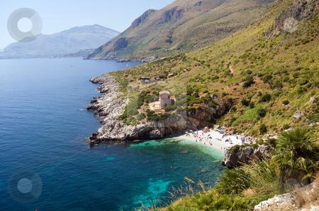Mediterranean sea Riserva dello Zingaro stock photo, Panorama of the Riserva dello Zingaro, Mediterranean Sea, wonderful Sicily, Italy by Roberto Marinello