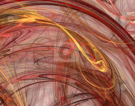 Flow stock photo, Abstract background - red and yellow waves - 3d illustration by J?