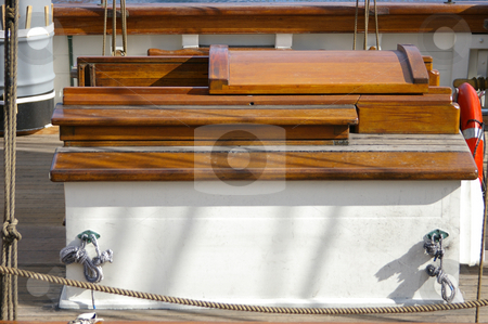 Ships Hatch stock photo, A hatch to below decks on a tall ship. by Tom Weatherhead
