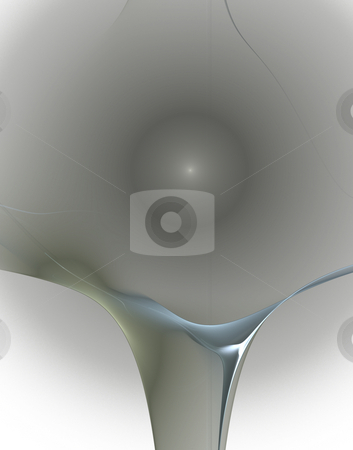 Center stock photo, Abstract grey blue waves background - illustration by J?