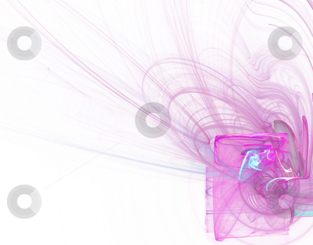 Pink lines stock photo, Abstract wave lines background - illustration by J?