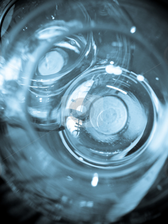 Glass stock photo, An abstract image of a glass cylinder by Cora Reed