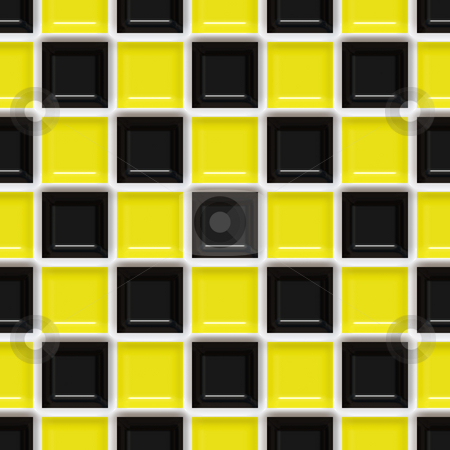 Checkered Pattern stock photo, A yellow and black checkered squares texture that tiles seamlessly. by Todd Arena