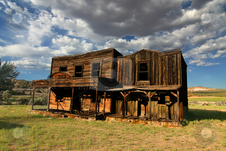 Western movie set stock photo, Johonson Ranch located in southern Utah  where such films as Gunsmoke were filmed by Mark Smith