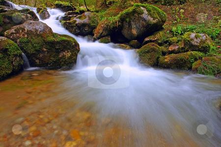 Waterfall stock photo, Waterfall in mountains, National Park in Poland by Adam Kraszewski