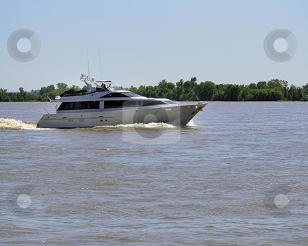 Pleasure Boat stock photo, Pleasure Boat on a river. by W. Paul Thomas