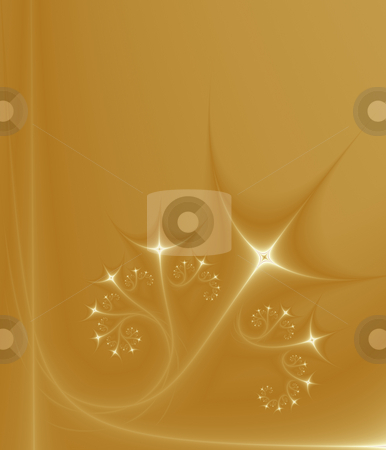 Growing Golden Stars, fractal33d(g) stock photo, Growing Golden Stars, Abstract pattern generated from a fractal. by Germán Ariel Berra
