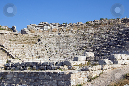 The Theater of Segesta in Sicily stock photo, The Theater of Segesta (3th century BC); Sicily, Italy by Roberto Marinello
