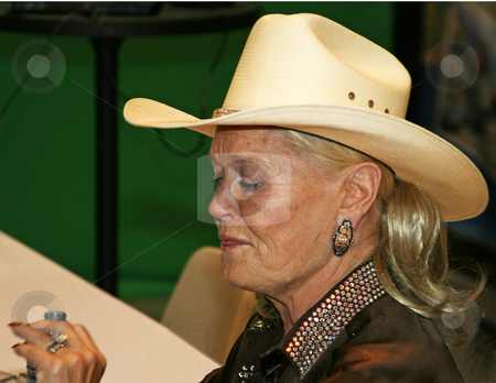 Lynn Anderson - CMA Festival 2009 stock photo, Lynn Anderson at the CMA Festival June 11-14, 2009 in Nashville, Tennessee signing autographs by Dennis Crumrin