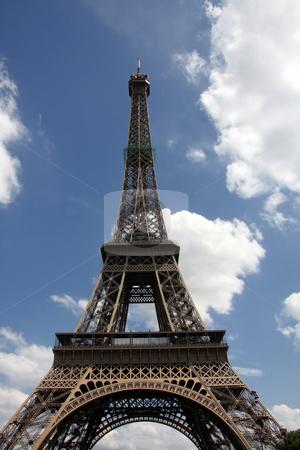 Eiffel Tower stock photo, Eiffel Tower in Paris by Ingvar Bjork