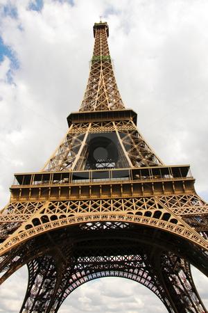Eiffel Tower in Paris stock photo, Eiffel Tower in Paris by Ingvar Bjork