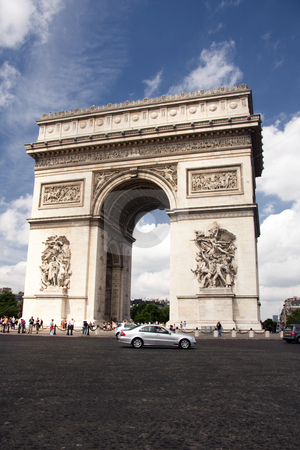 Arc de Triomphe stock photo, Arc de Triomphe by Ingvar Bjork
