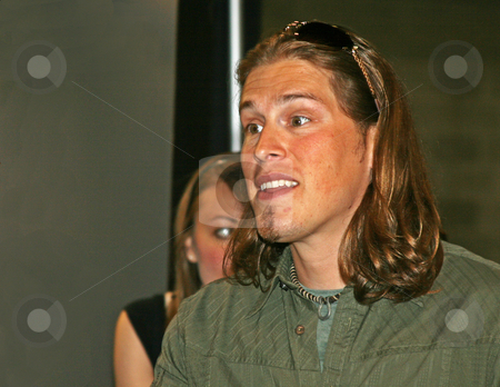 Jason Michael Carroll - CMA Festival 2009 stock photo, Jason Michael Carroll at the CMA Music Festival June 11-14, 2009 in Nashville, Tennessee signing autographs by Dennis Crumrin