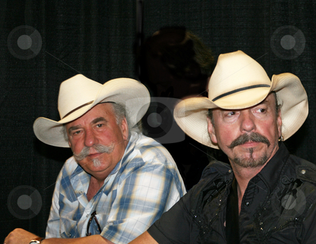 The Bellamy Brothers - CMA Music Festival 2009 stock photo, The Bellamy Brothers at the CMA Festival June 11-14, 2009 in Nashville, Tennessee signing autographs by Dennis Crumrin