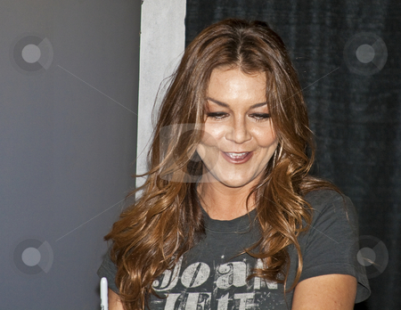Gretchen Wilson - CMA Music Festival 2009 stock photo, Gretchen Wilson at the CMA Music Festival June 11-14, 2009 in Nashville, Tennessee signing autographs by Dennis Crumrin