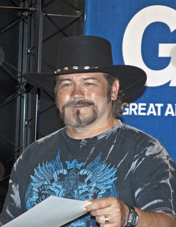 Buddy Jewell - CMA Music Festival 2009 stock photo, Buddy Jewell Cochran at the CMA Music Festival June 11-14, 2009 in Nashville, Tennessee signing autographs by Dennis Crumrin