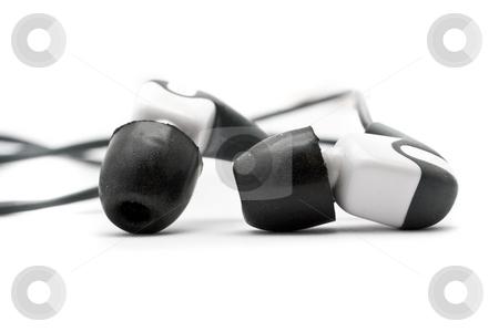Noise block earphone stock photo, In ear isolated noise block earphone by Kenneth Ro