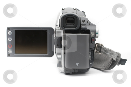 Camcorder Mini DV camcorder view finder stock photo, Consumer mini dv camcorder with different angle by Kenneth Ro