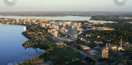 UW-Madison Campus stock photo, Aerial Photo of the UW-Madison Campus by Kristopher Strach